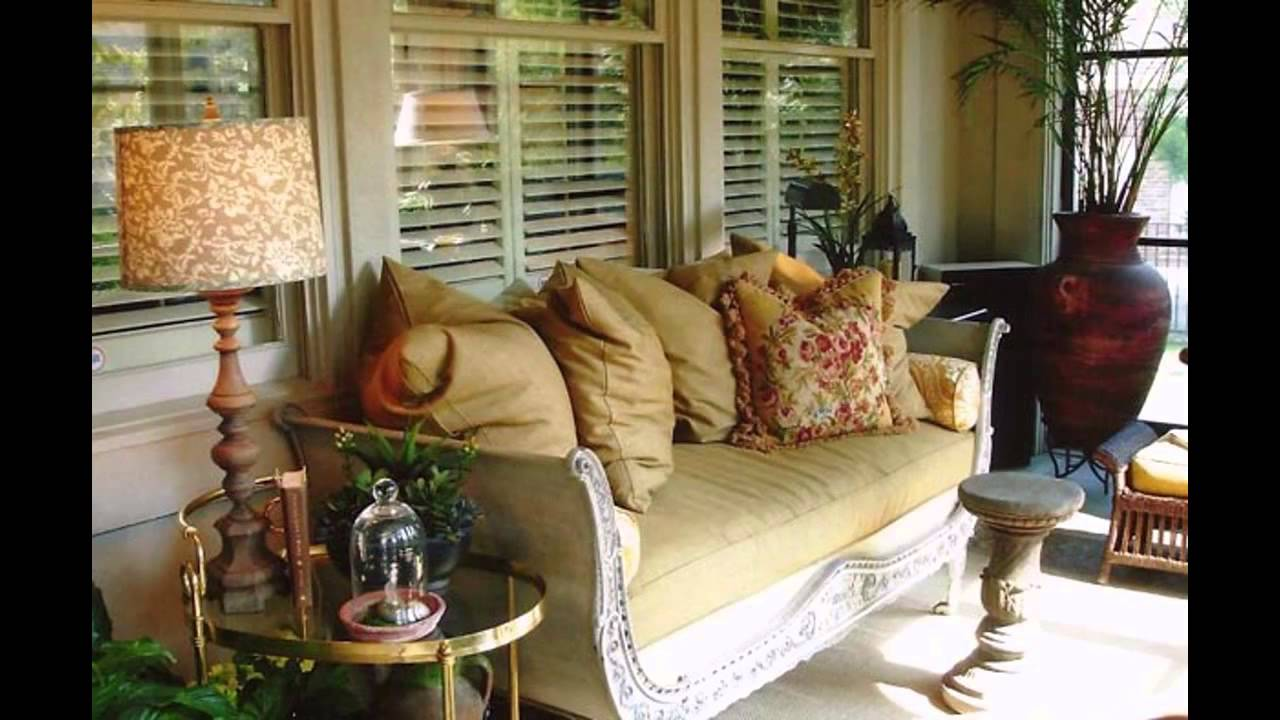 Decorating Ideas: Stunning Enclosed Porch Decorating Ideas