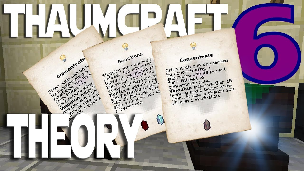 Lets Play Minecraft Thaumcraft 6 ep 5 - I Figured Out Theory Crafting   Doing Thaumcraft Research