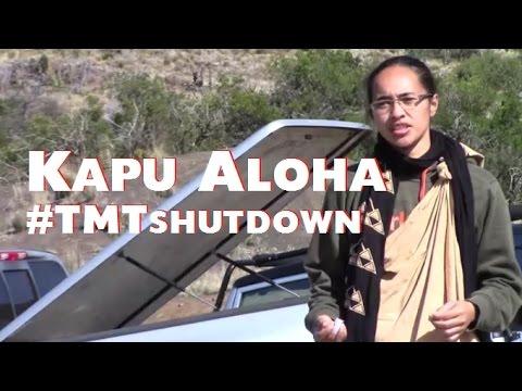 Holding Kapu Aloha during #TMTshutdown
