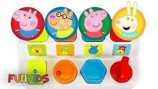 Paw Patrol and Peppa Pig Pop Up Toy Surprises Learn Colors and Numbers