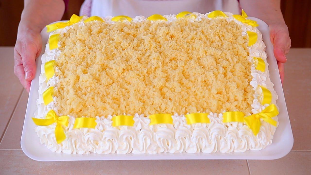 TORTA MIMOSA Ricetta Speciale Dedicata alle Donne , Italian Mimosa Cake  Recipe. Fatto in casa da Benedetta