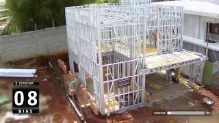 Diviplus - Steelframe + Drywall Timelapse