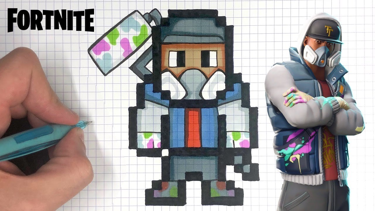 TUTO PIXEL ART GRAFFEUR SKIN FORTNITE
