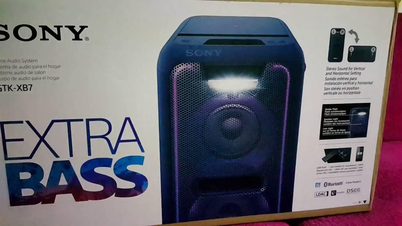 Unboxing Desempaquetado Parlante Sony Gtk Xb7 Azul
