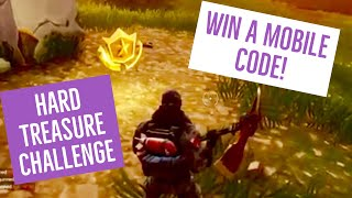FORTNITE HARD CHALLENGE & IOS CODE GIVEAWAY! Follow the treasure Map found in Anarchy Acres! WEEK 5
