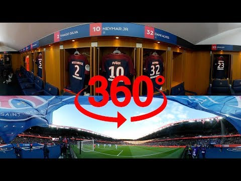 360 VIDEO - A VR 360 GAME AT THE PARC DES PRINCES - GOALS Neymar Jr, Edinson Cavani