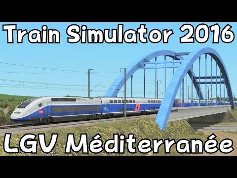 Train Simulator 2016: LGV Marseille - Avignon and back with TGV Duplex