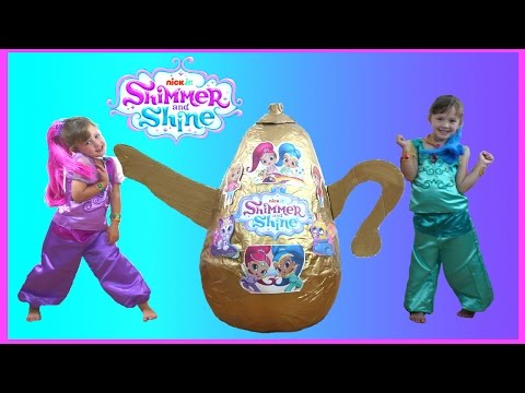 Shimmer and Shine Videos Super Giant Golden Egg Surprise | Shimmer and Shine Toys & Dress up video