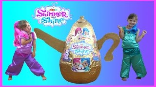 Repeat youtube video Shimmer and Shine Videos Super Giant Golden Egg Surprise | Shimmer and Shine Toys & Dress up video