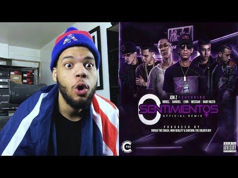 Jon Z 0 Sentimientos (Remix) Baby Rasta Noriel Lyan Darkiel Messiah - 0 Sentimientos reaccion