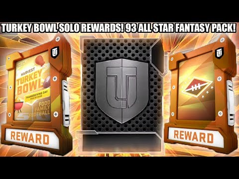 FREE 93 ALL STAR! ALL TURKEY BOWL SOLO CHALLENGE REWARDS! | MADDEN 19 ULTIMATE TEAM