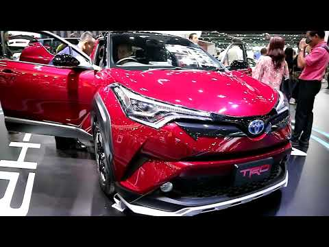 New Toyota C-HR Hybrid 2018,red colour