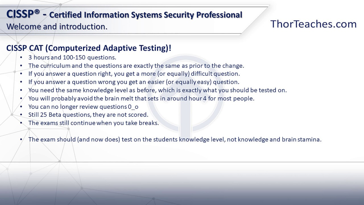 Cissp cat computerized adaptive testing exam youtube cissp cat computerized adaptive testing exam xflitez Image collections