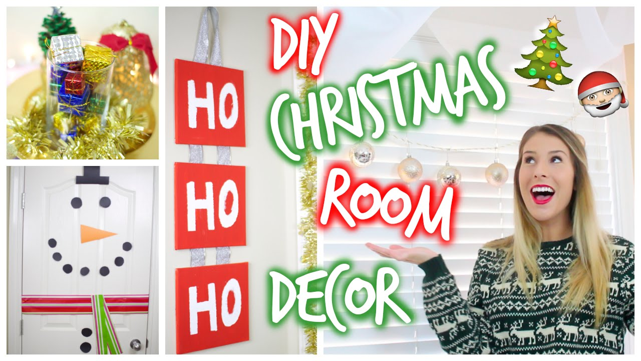 diy pinterest-inspired christmas room decor ❄ - youtube