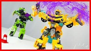 Мультик Трансформеры из игрушек: Добрый Десептикон спас город от Метеорита? Видео с трансформерами