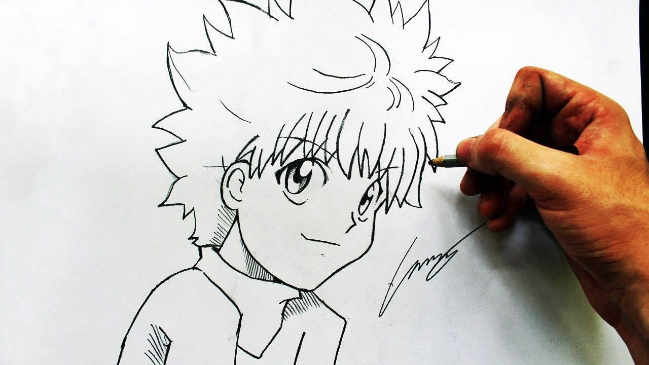 Como Desenhar O Killua Zoldyck Hunterxhunter How To Draw