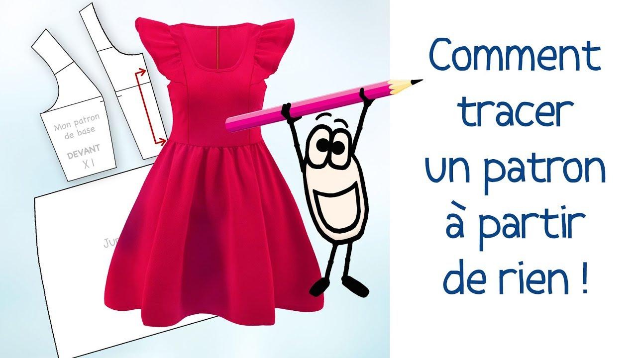 Comment Tracer Le Patron D Une Robe Vue En Photo Tuto Couture Gratuit Hd Youtube
