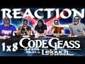 "Code Geass 1x8 REACTION!! ""The Black Knights"""