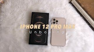 📦🍎📱Iphone 12 Pro Max Aesthetic Unboxing (Gold) | iPhone 8 Plus Comparison