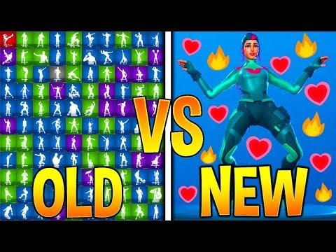 OLD DANCES Vs. NEW DANCES In Fortnite Battle Royale