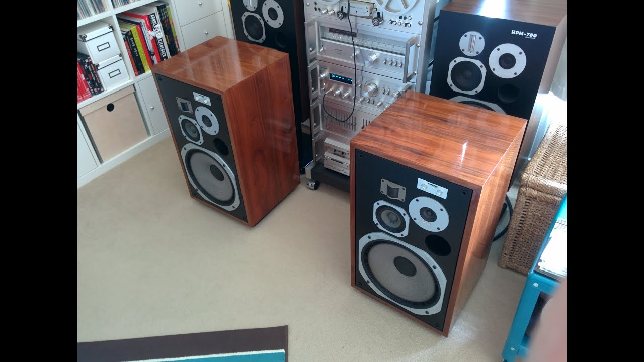 pioneer hpm 100 loudspeakers restoration youtube