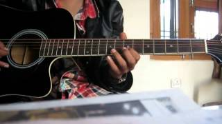 Learn surili akhiyon wale on GUITAR!! veer by rishabh