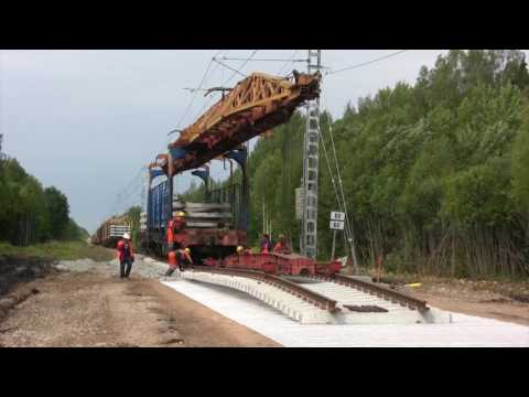 Рабочий цикл крана УК-25/19 / Work Cycle Of Railway Montage Crane UK-25/19