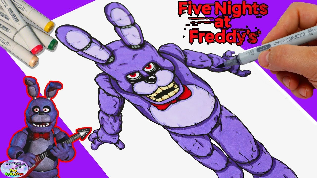 Five Nights At Freddys Coloring Book Bonnie Game Character Copic Markers Setc Youtube