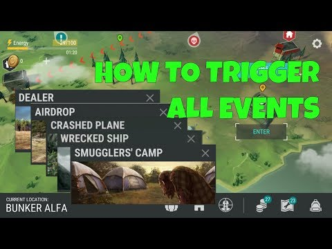 HOW TO TRIGGER EVENTS (AIR DROP, PLANE CRASH, TRADER, SMUGGLER'S CAMP) - LAST DAY ON EARTH: SURVIVAL
