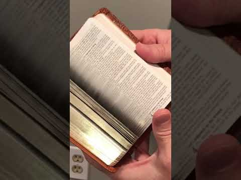 KJV Mini Pocket Bible - Tan LuxLeather