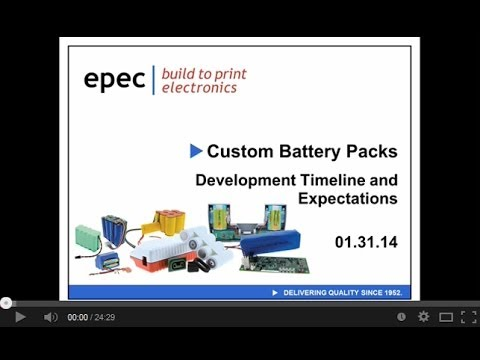 Battery Pack Development Timeline and Expectations