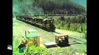 Southern Pacific- SP 4414 , EMD SD9E ,Pulling 1.9% Grade, Cascade Mountains, Cruzatte, Oregon 1984
