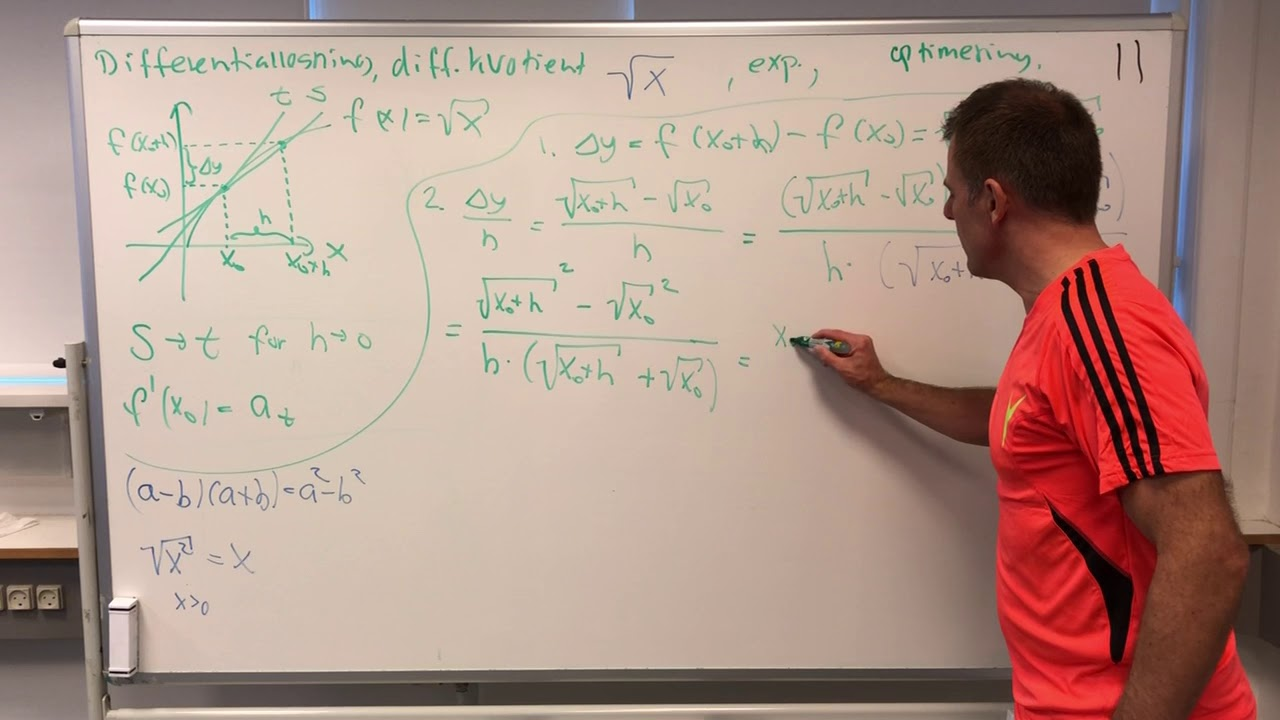 HELLE MAB Spg 11 Differentialregning diff kvotienten fx=kvadratroden af x