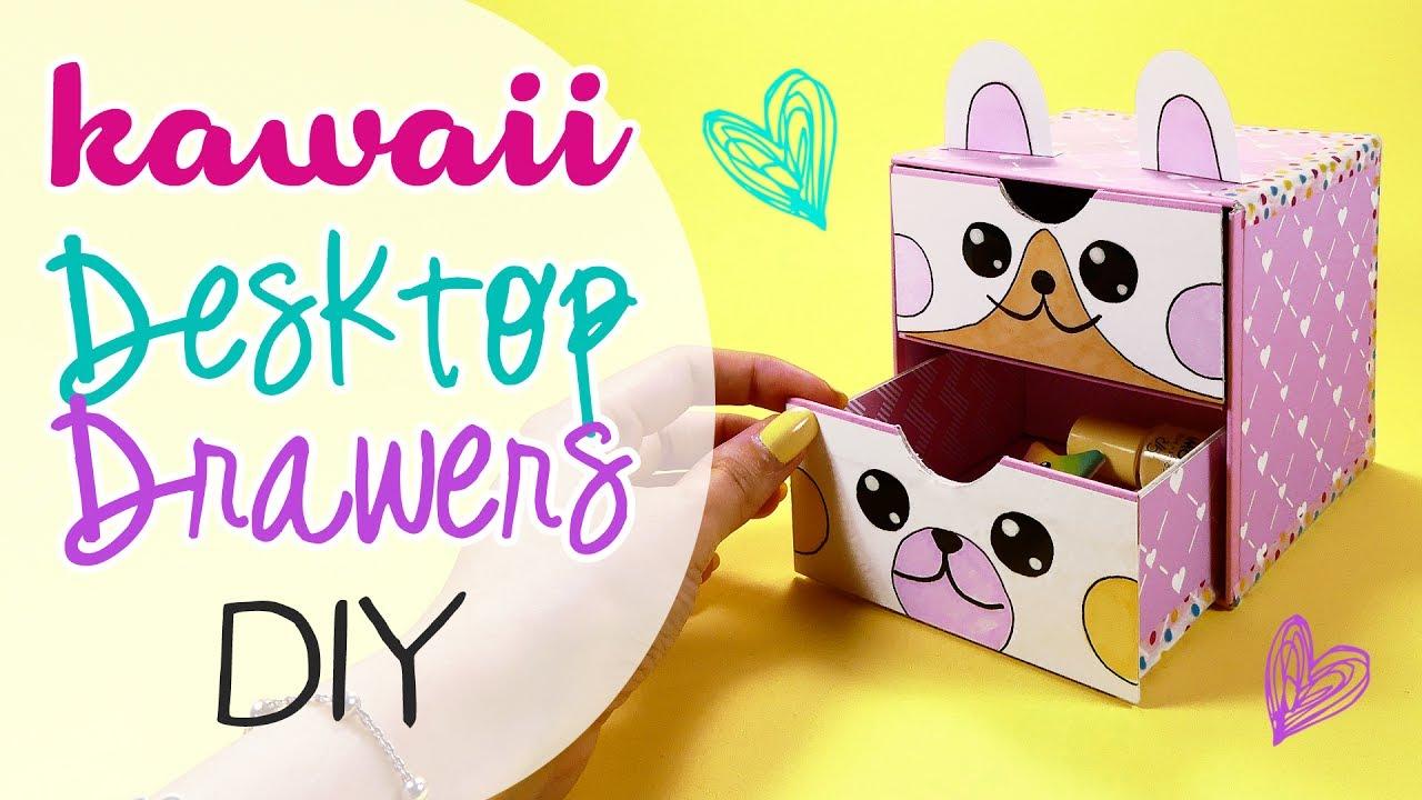 Mini Cassettiera Fai Da Te diy kawaii desktop drawers - cassettiera da scrivania!