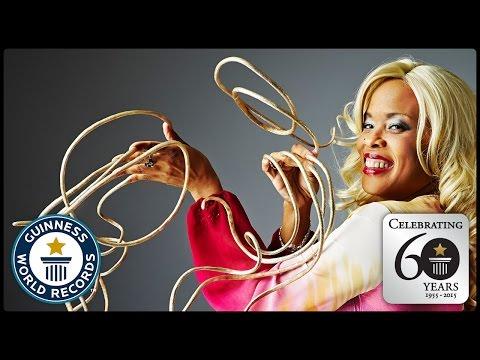 Longest Fingernails - Guinness World Records 60th Anniversary