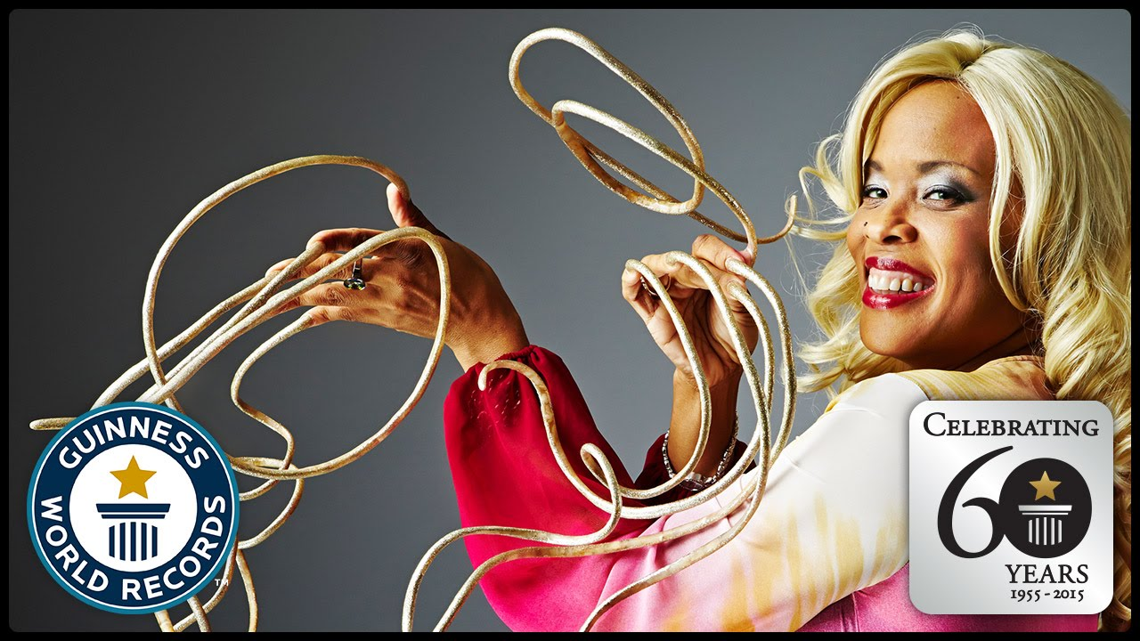 Longest Fingernails - Guinness World Records 60th Anniversary - YouTube