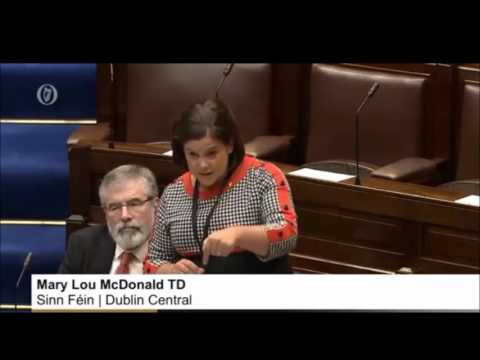 Dáil return: Mary Lou gets stuck into Taoiseach and his cronies