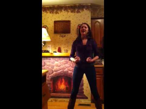 Jacqueline rehearsing for Footloose