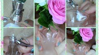 Como abrir frasco de PERFUME e transformá-lo em um JARRO