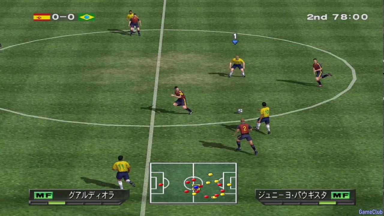 Winning Eleven 5 PS2 - Brazil VS Spain Gameplay - Japanese Commentary -  YouTube