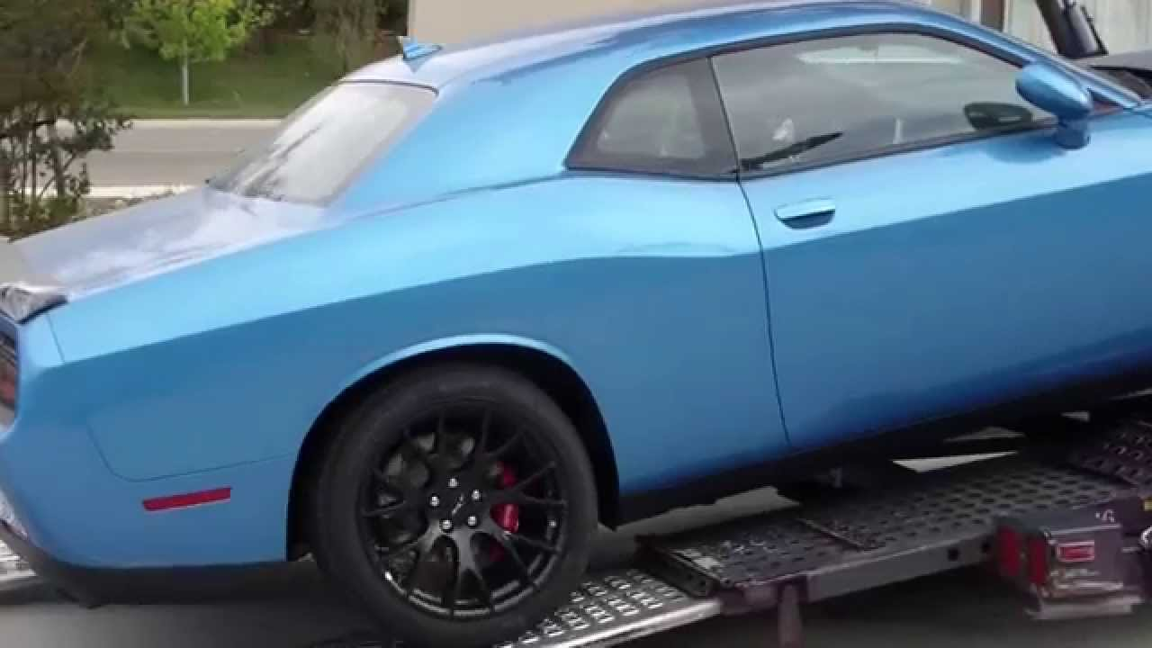 B5 Blue Hellcat Being Delivered Youtube