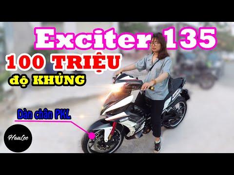 Vô tình gặp được Exciter 135 - 62zz độ dàn chân KHỦNG   HauLee