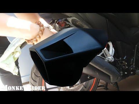 #Chăm sóc xe 2: Sơn chụp pô zin cùng Phương ATM - Honda Winner