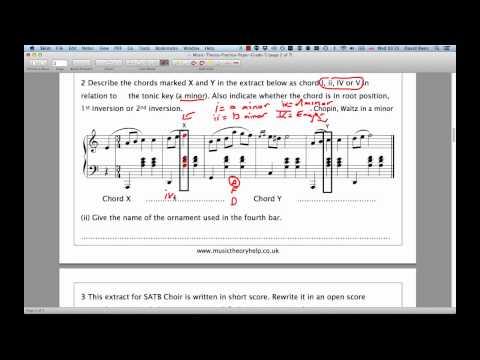 ABRSM Grade 5 Theory  Question 2  Harmony