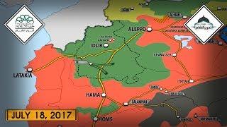 19 июля 2017. Военная обстановка в Сирии. Бои между джихадистами в Алеппо. Русский перевод.