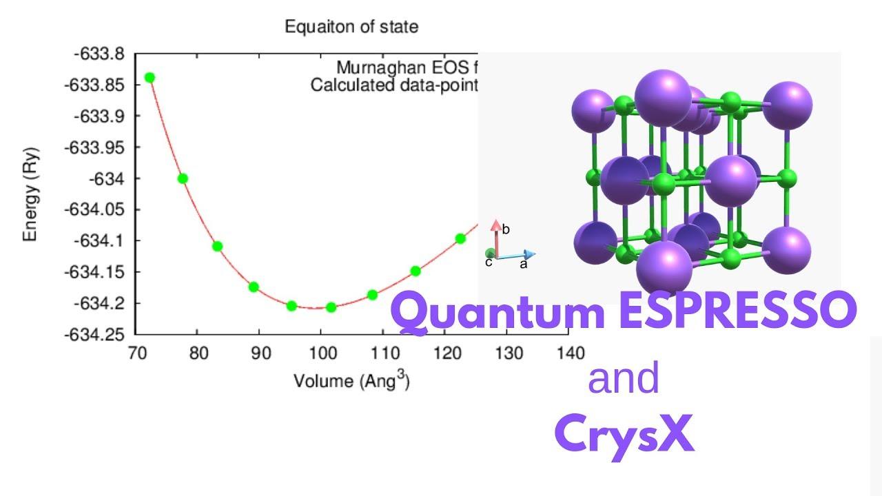 Bulk Modulus and Equation of State Calculation using Quantum ESPRESSO and  CrysX [TUTORIAL]