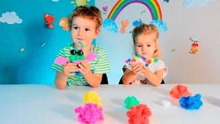 Конструктор РЕПЕЙНИК Bunchems Видео для девчонок Бунчемс Фигуры животных Цветные животные из шариков