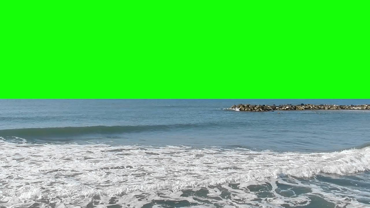 5Min Green Screen Shore with sound FREE FOOTAGE AA VFX