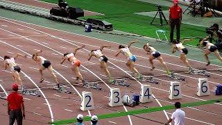 市川が日本選手権、初優勝。福島の8連覇を阻む。1着市川華菜11秒52、2着...