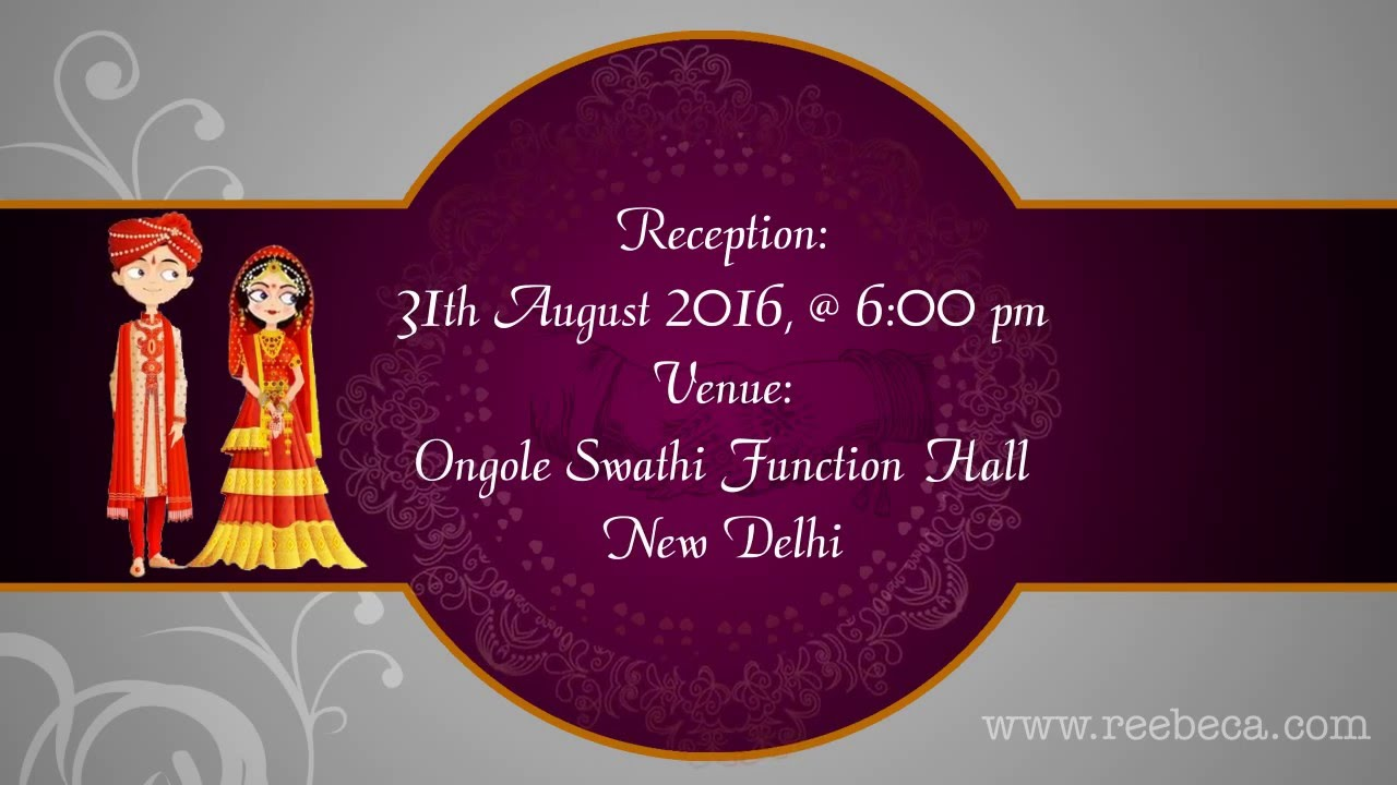 Shubh Vivah Indian Animated Wedding Video Invitation Theme Whats Invite You